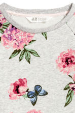 Sweatshirt dress with a belt - Grey/Floral - Kids | H&M CN 2